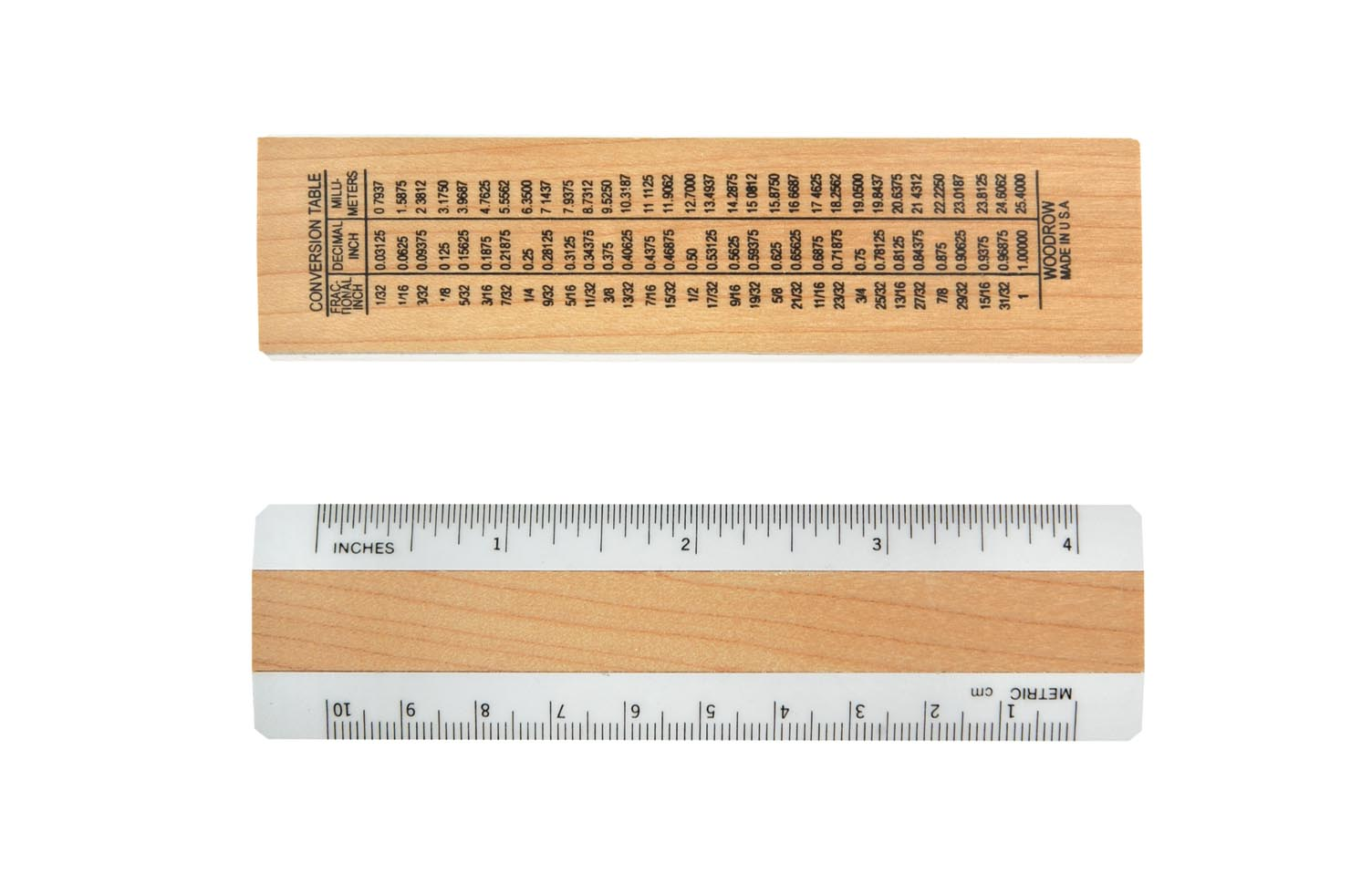 43a 4inch Inches Metric Ruler